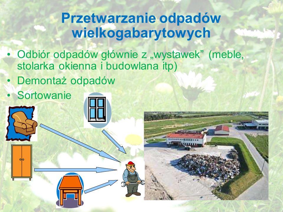 Przetwarzanie odpadów wielkogabarytowych
