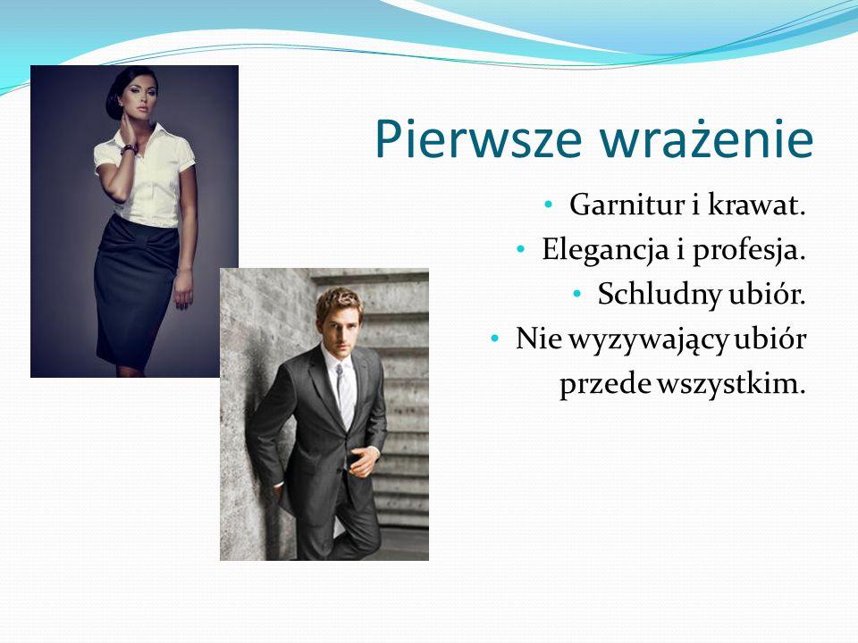 Pierwsze wrażenie Garnitur i krawat. Elegancja i profesja.