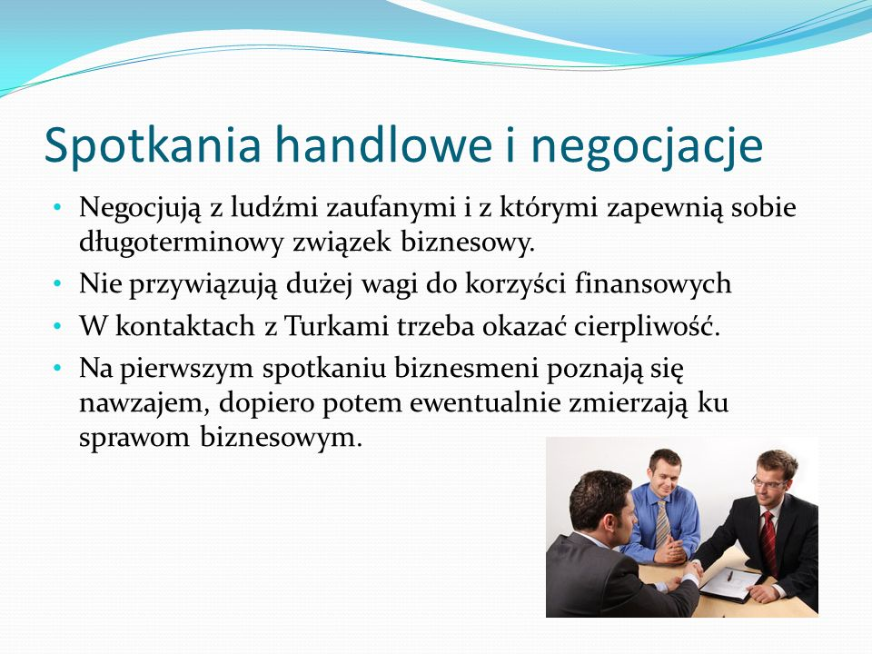 Spotkania handlowe i negocjacje