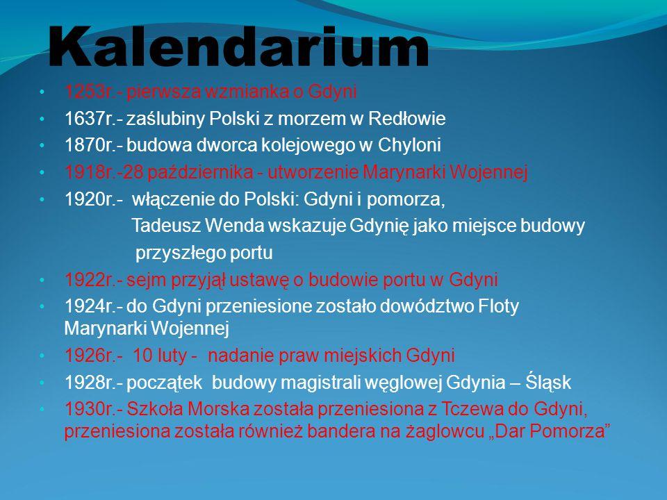 Kalendarium 1253r.- pierwsza wzmianka o Gdyni