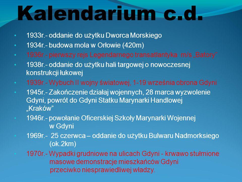 Kalendarium c.d. 1933r.- oddanie do użytku Dworca Morskiego