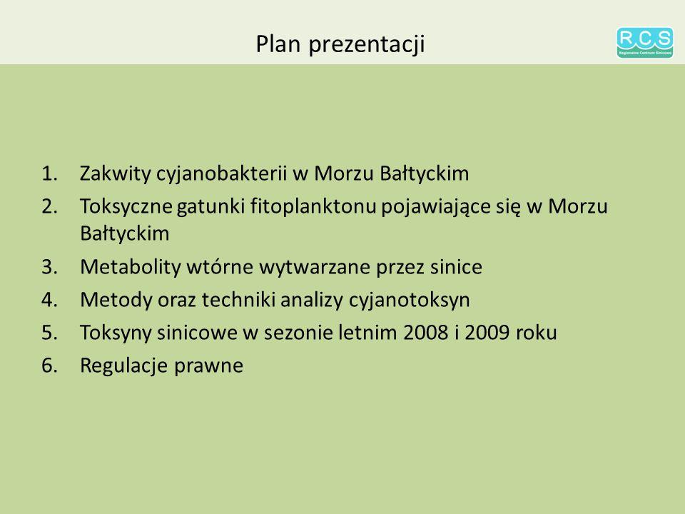 Plan prezentacji Zakwity cyjanobakterii w Morzu Bałtyckim