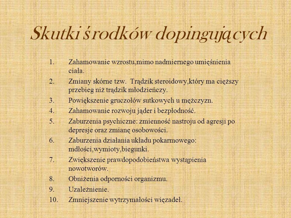 Skutki środków dopingujących