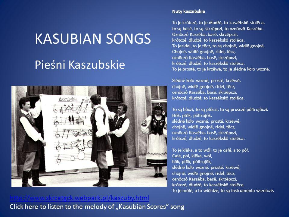 KASUBIAN SONGS Pieśni Kaszubskie