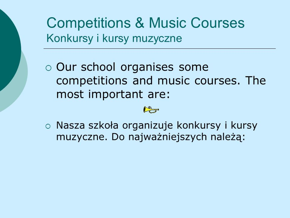 Competitions & Music Courses Konkursy i kursy muzyczne
