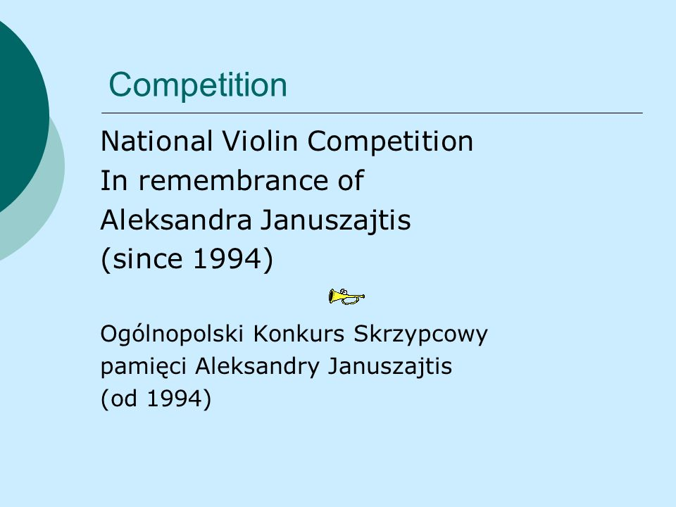Competition National Violin Competition In remembrance of