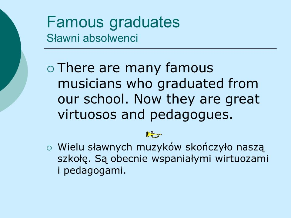 Famous graduates Sławni absolwenci