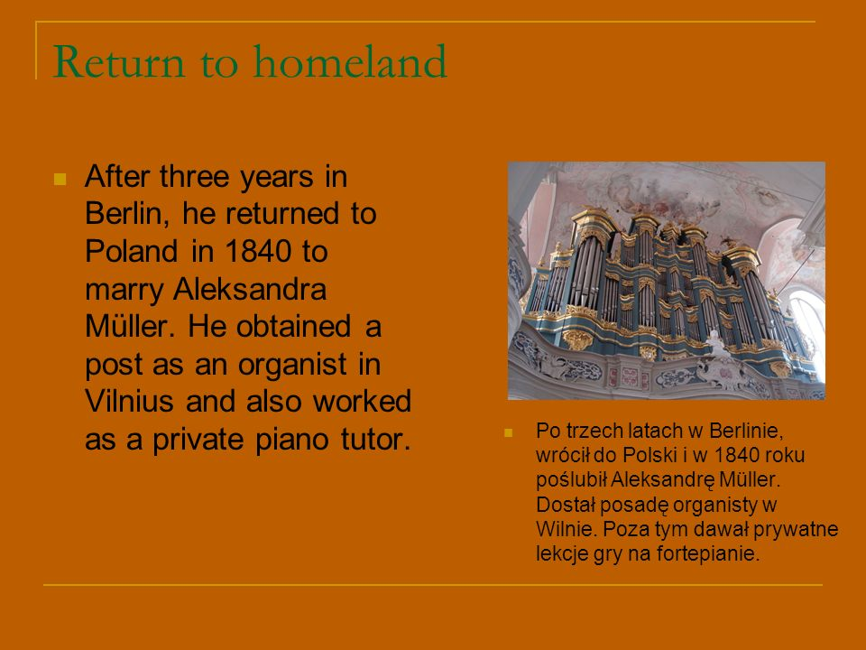 Return to homeland