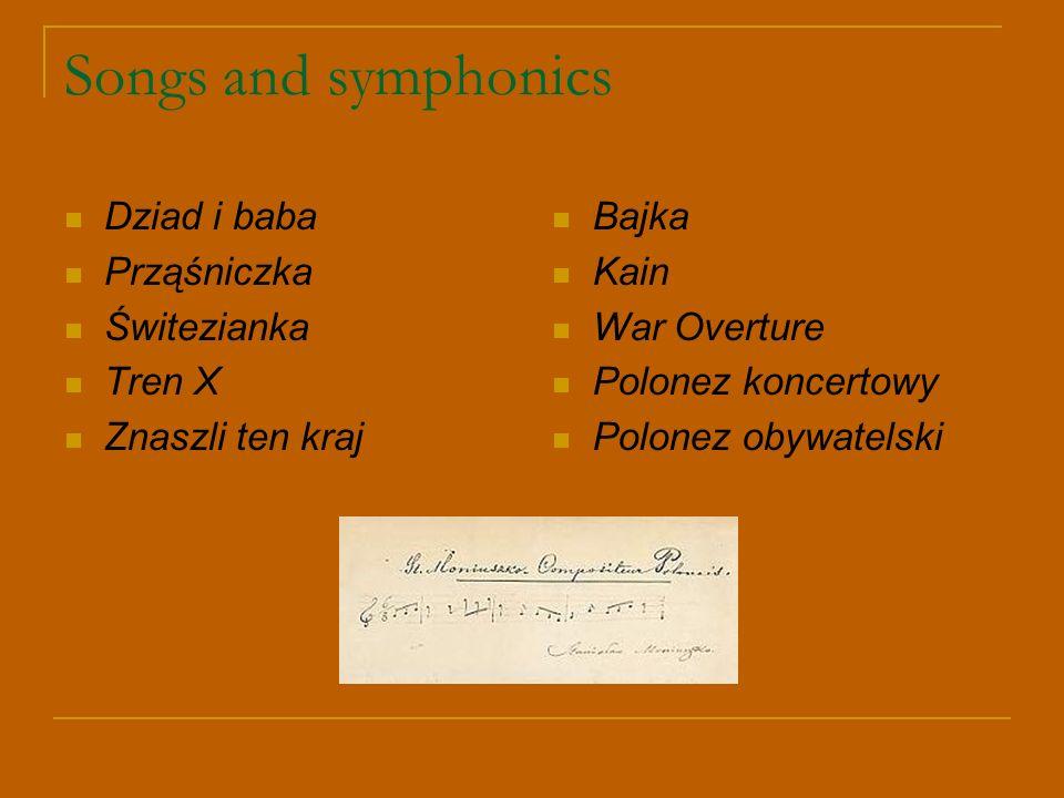 Songs and symphonics Dziad i baba Prząśniczka Świtezianka Tren X