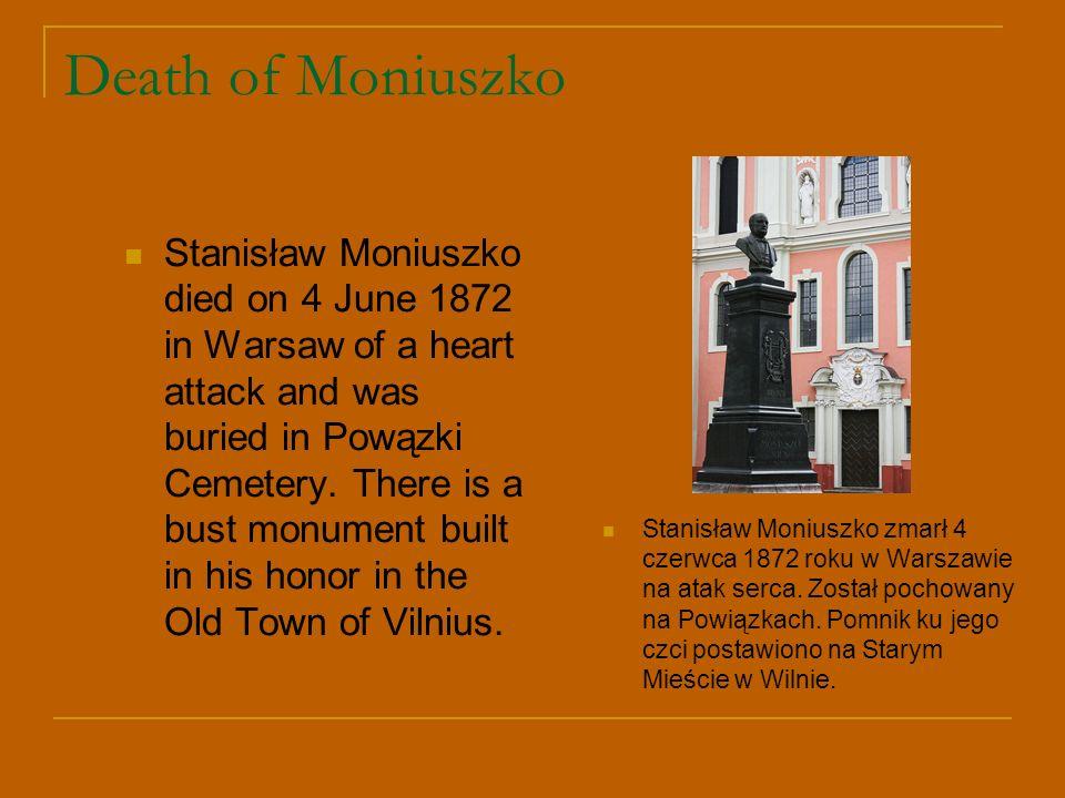 Death of Moniuszko
