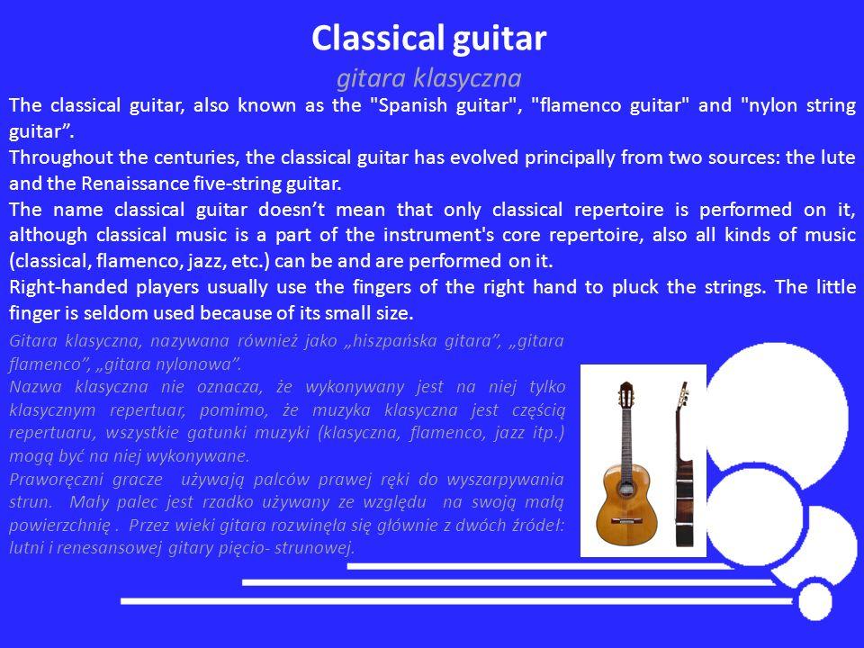 Classical guitar gitara klasyczna