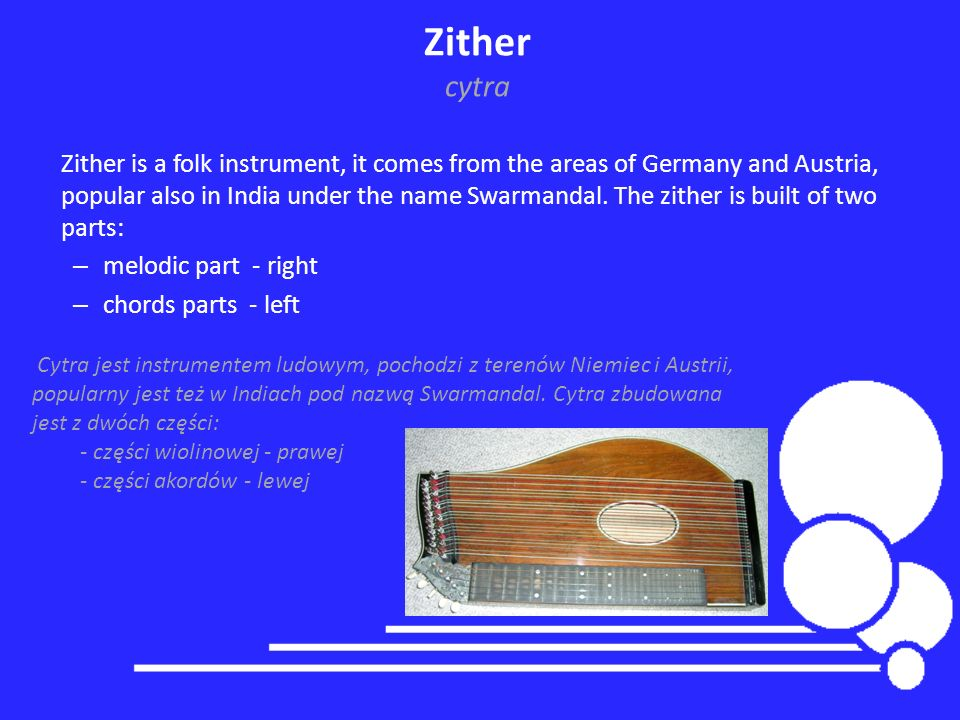 Zither cytra