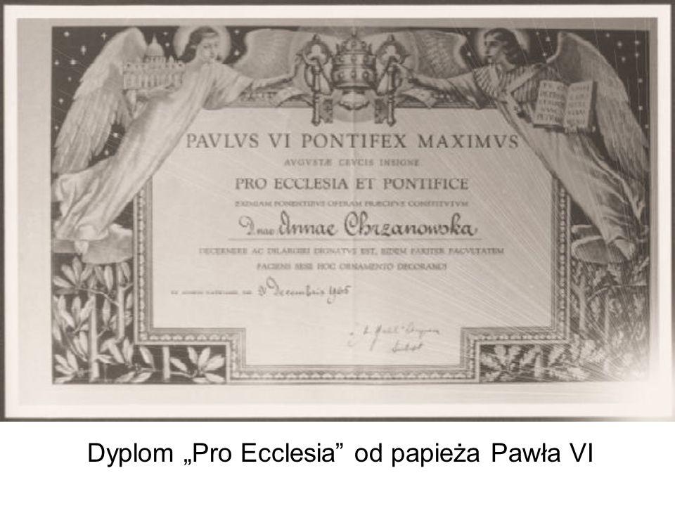"""Dyplom """"Pro Ecclesia od papieża Pawła VI"""