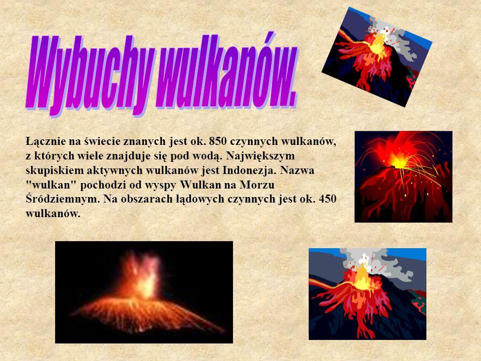Wybuchy wulkanów.