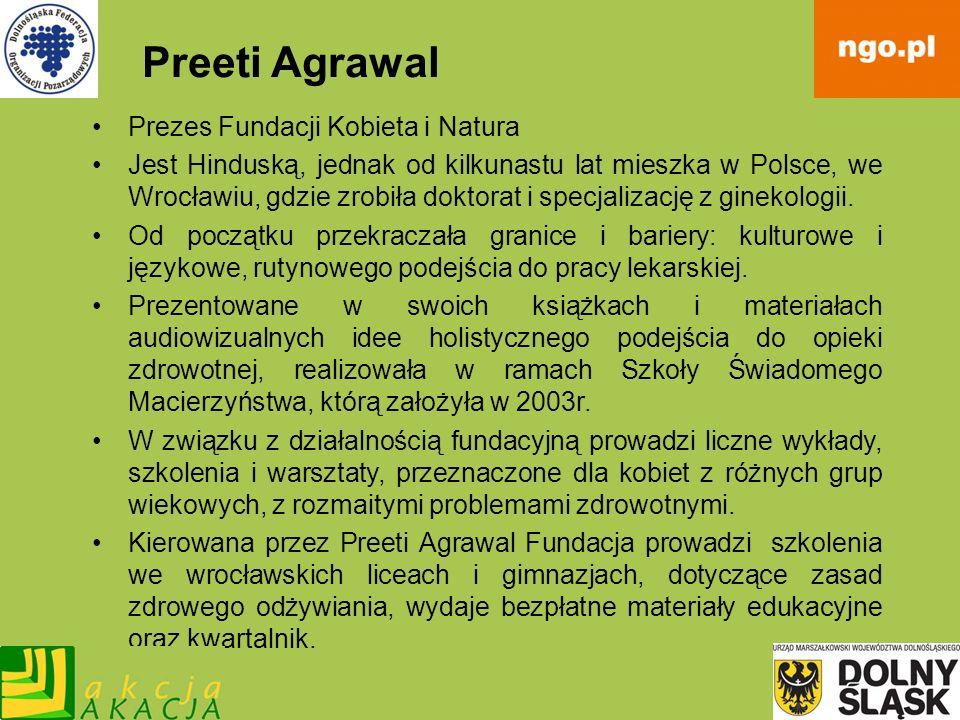 Preeti Agrawal Prezes Fundacji Kobieta i Natura