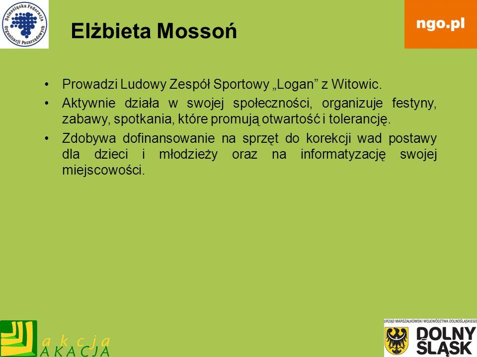 """Elżbieta Mossoń Prowadzi Ludowy Zespół Sportowy """"Logan z Witowic."""