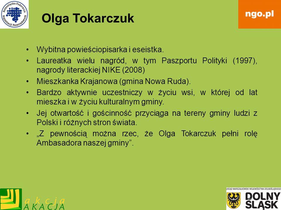 Olga Tokarczuk Wybitna powieściopisarka i eseistka.