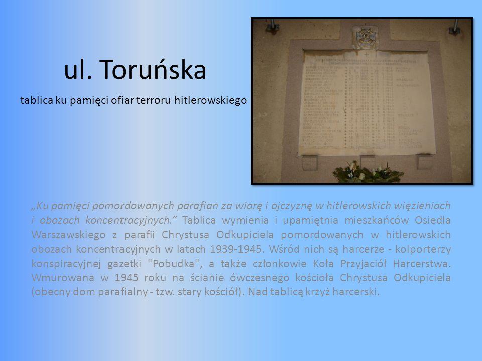 ul. Toruńska tablica ku pamięci ofiar terroru hitlerowskiego