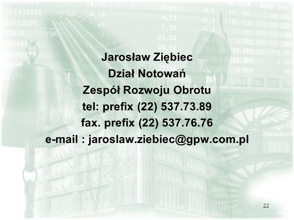 e-mail : jaroslaw.ziebiec@gpw.com.pl