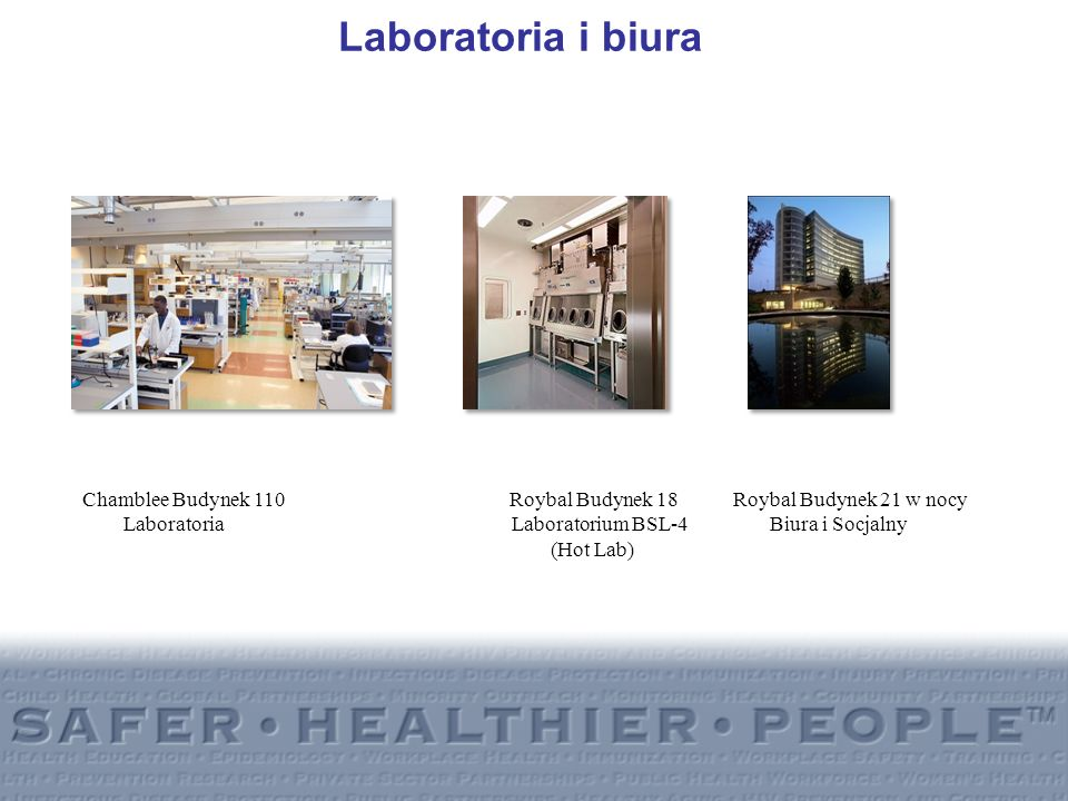 Laboratoria i biuraChamblee Budynek 110 Roybal Budynek 18 Roybal Budynek 21 w nocy.