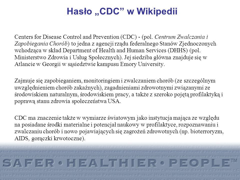 """Hasło """"CDC w Wikipedii"""