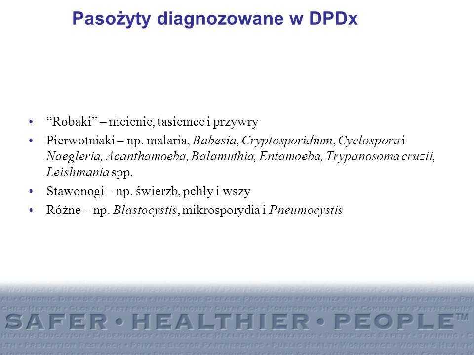 Pasożyty diagnozowane w DPDx