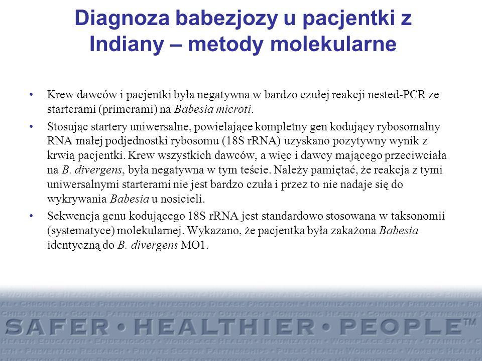 Diagnoza babezjozy u pacjentki z Indiany – metody molekularne
