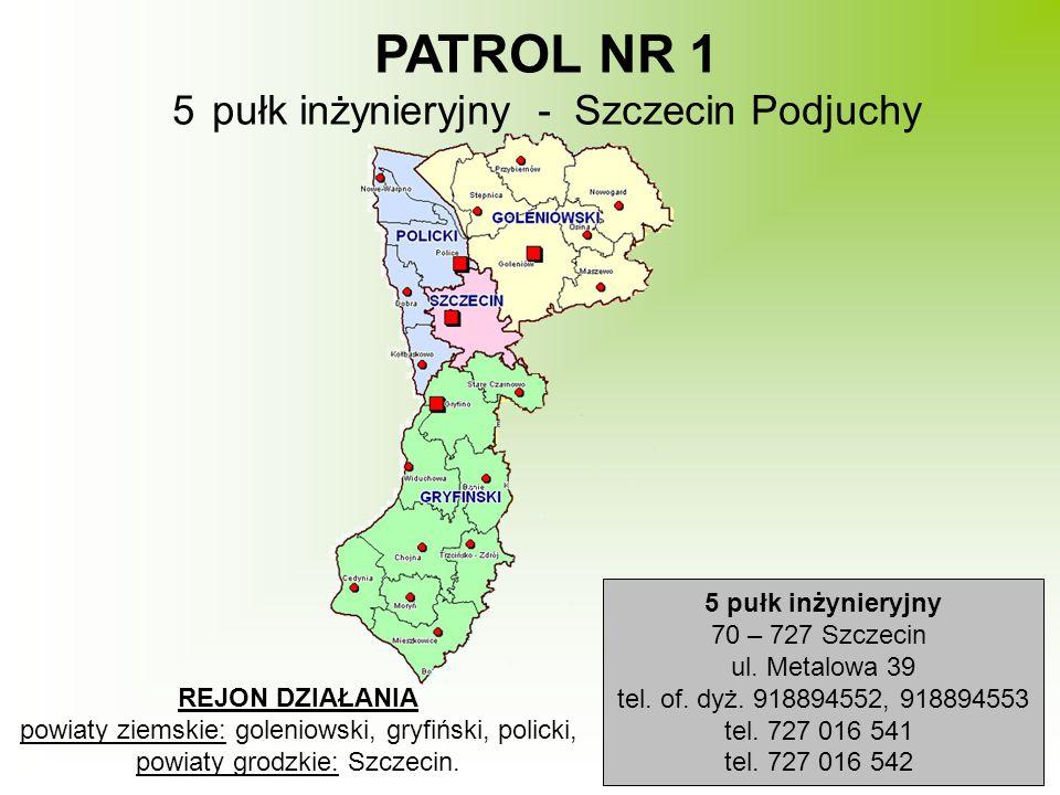 PATROL NR 1 pułk inżynieryjny - Szczecin Podjuchy 5 pułk inżynieryjny
