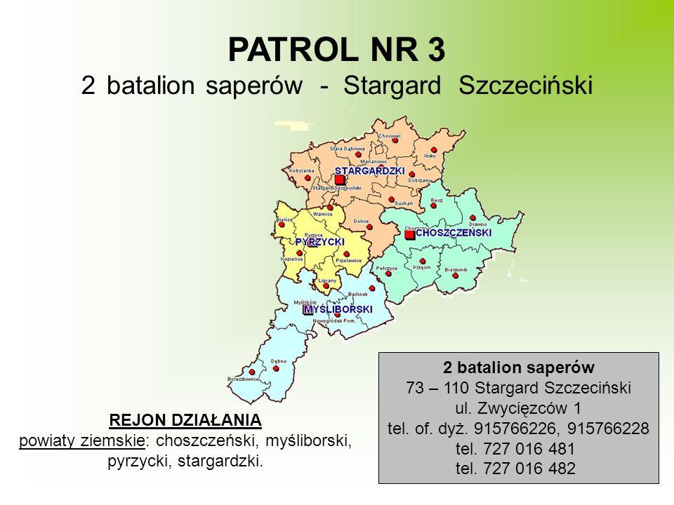 PATROL NR 3 batalion saperów - Stargard Szczeciński 2 batalion saperów