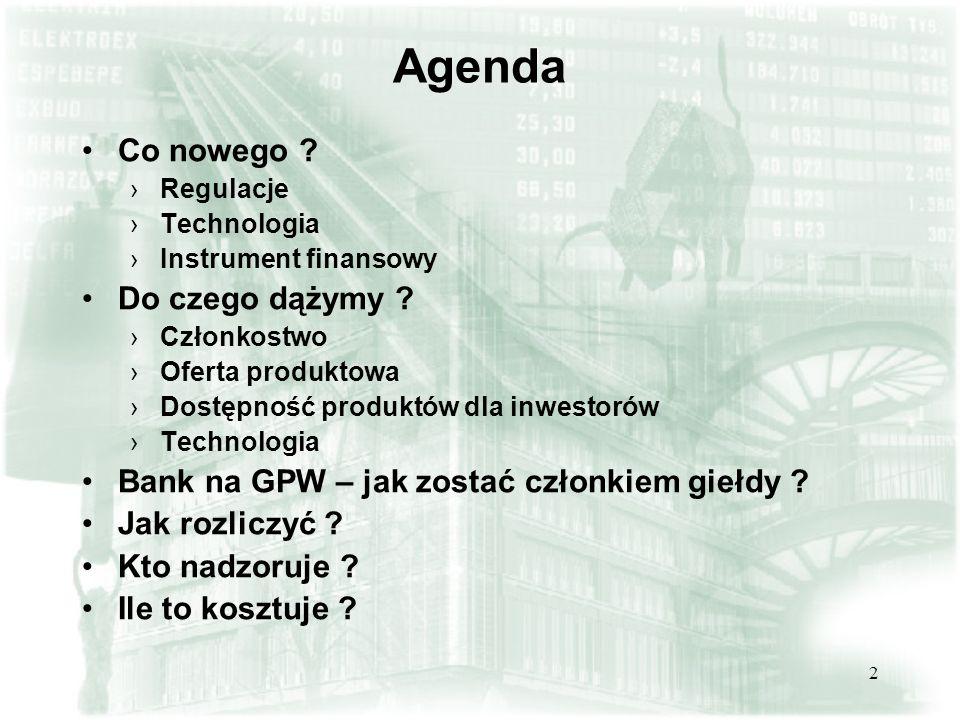 Agenda Co nowego Do czego dążymy