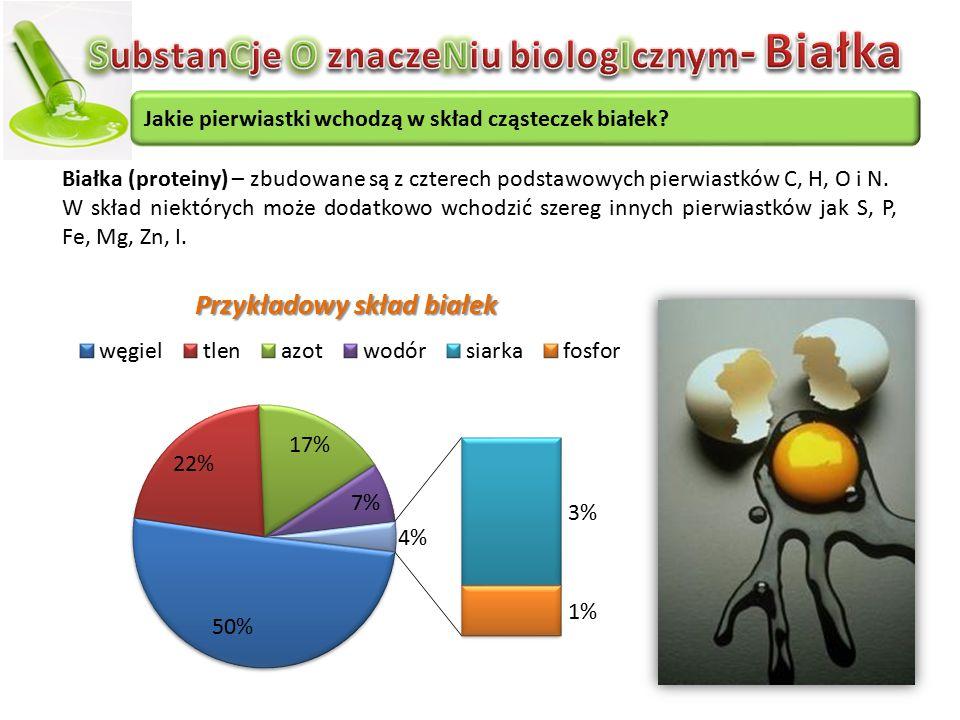 SubstanCje O znaczeNiu biologIcznym- Białka