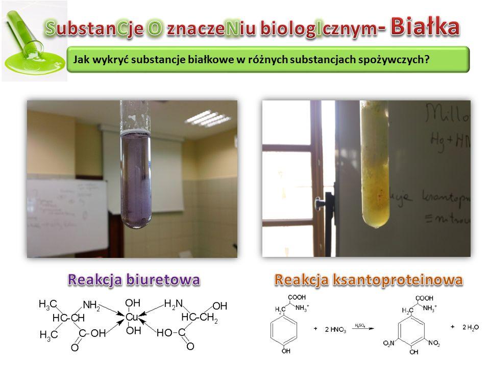 SubstanCje O znaczeNiu biologIcznym- Białka Reakcja ksantoproteinowa