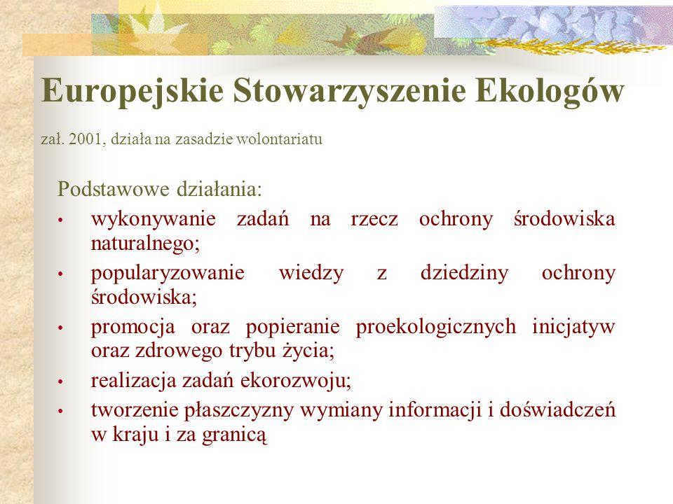 Europejskie Stowarzyszenie Ekologów zał