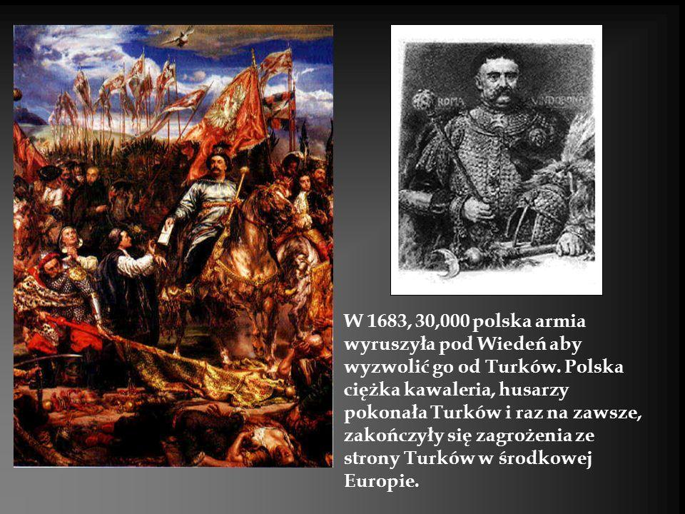 W 1683, 30,000 polska armia wyruszyła pod Wiedeń aby wyzwolić go od Turków.