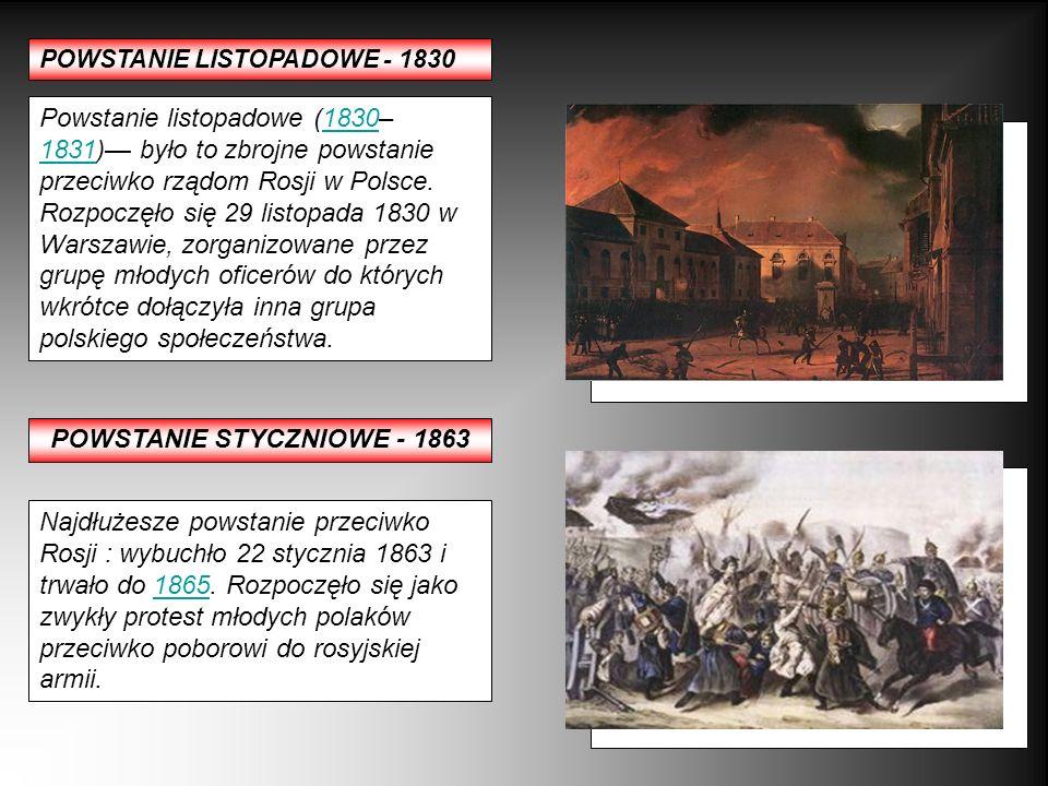 POWSTANIE STYCZNIOWE - 1863