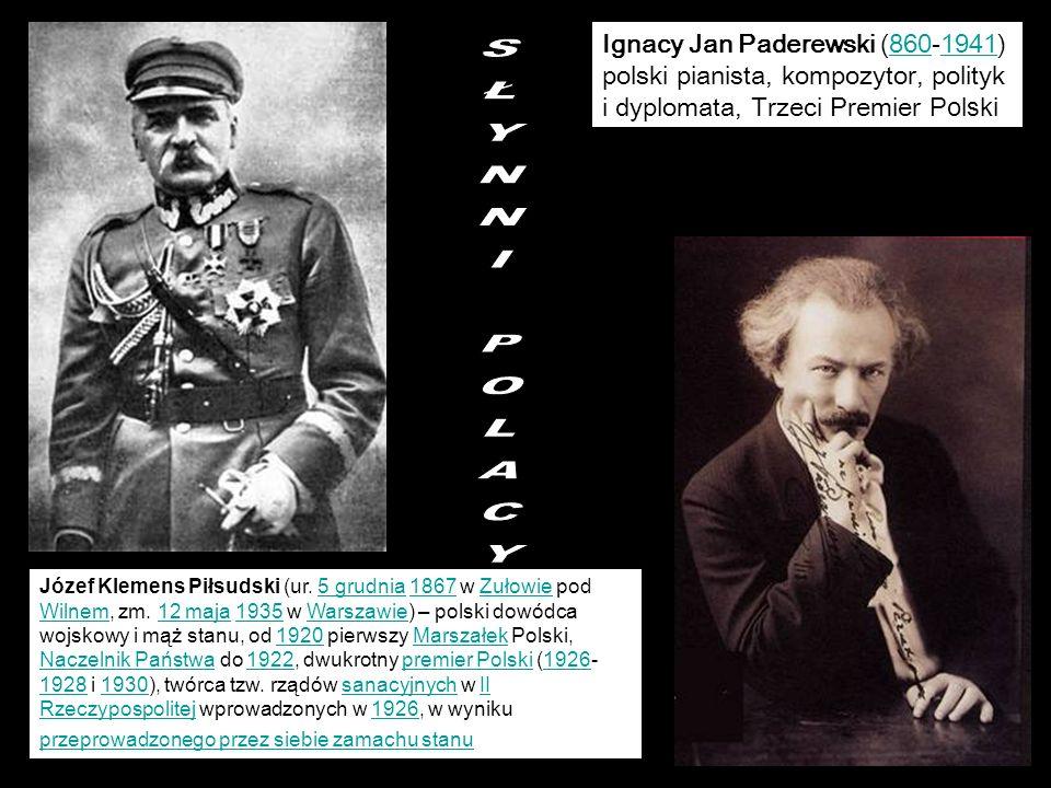 Ignacy Jan Paderewski (860-1941) polski pianista, kompozytor, polityk i dyplomata, Trzeci Premier Polski