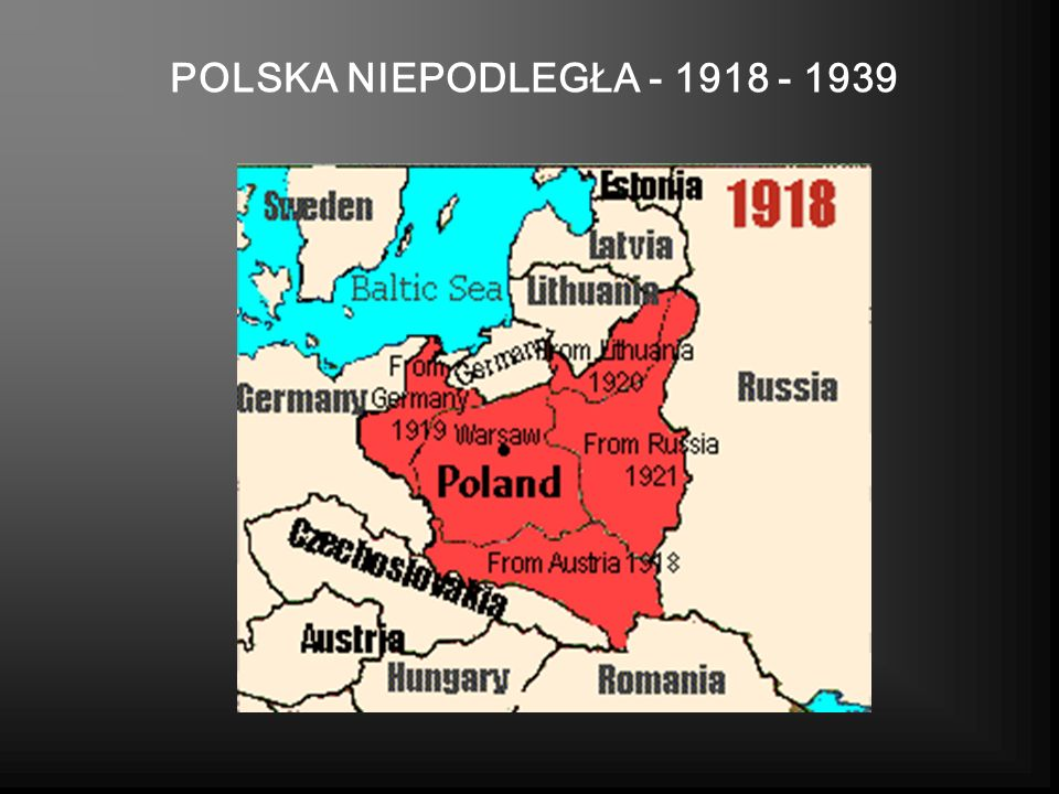 POLSKA NIEPODLEGŁA - 1918 - 1939