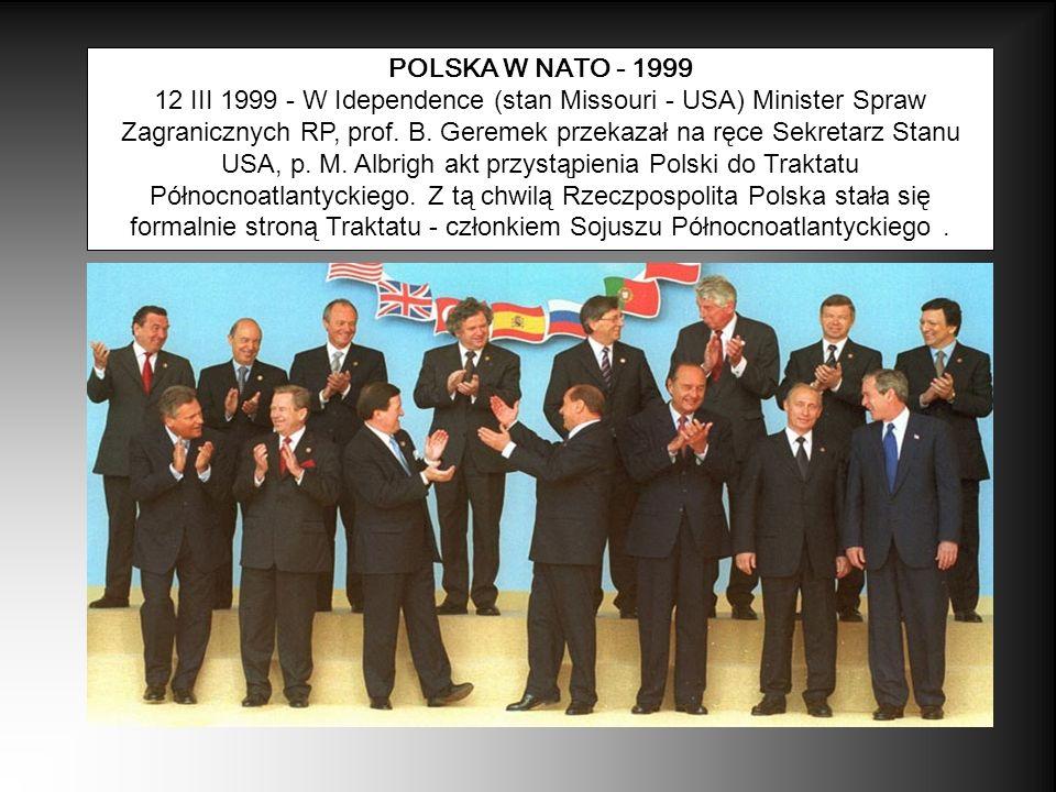 POLSKA W NATO - 1999