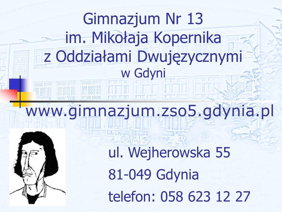 Gimnazjum Nr 13 im. Mikołaja Kopernika z Oddziałami Dwujęzycznymi w Gdyni
