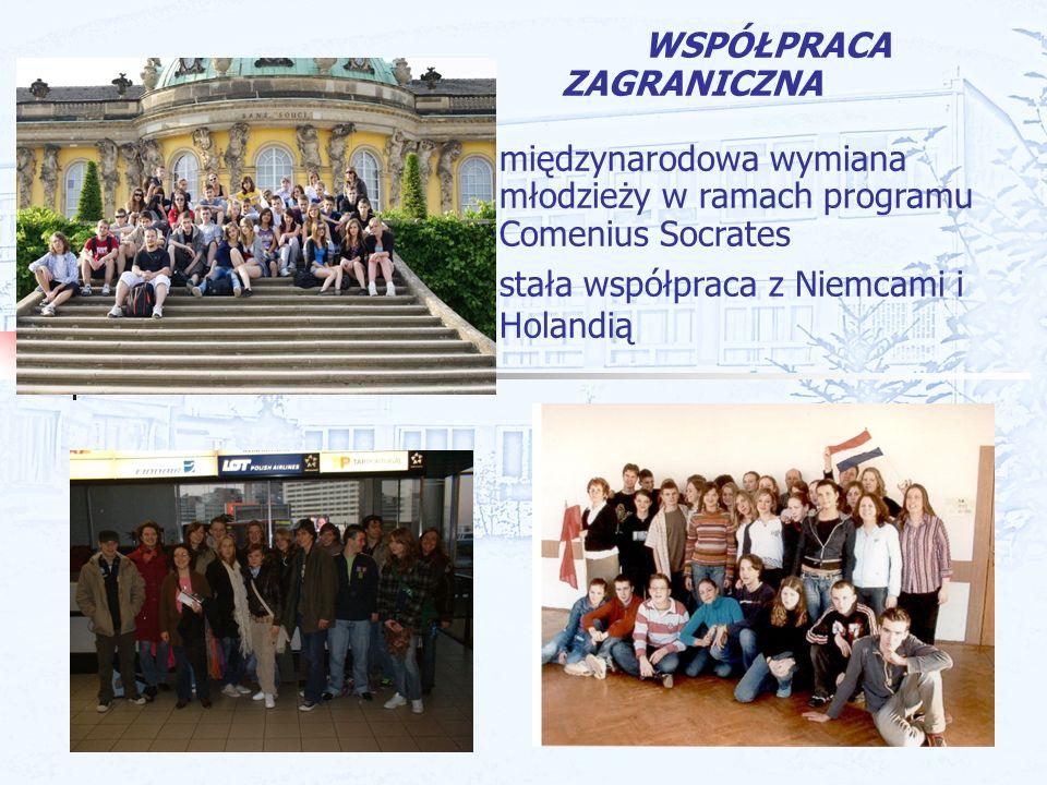 WSPÓŁPRACA ZAGRANICZNA. międzynarodowa wymiana młodzieży w ramach programu Comenius Socrates.