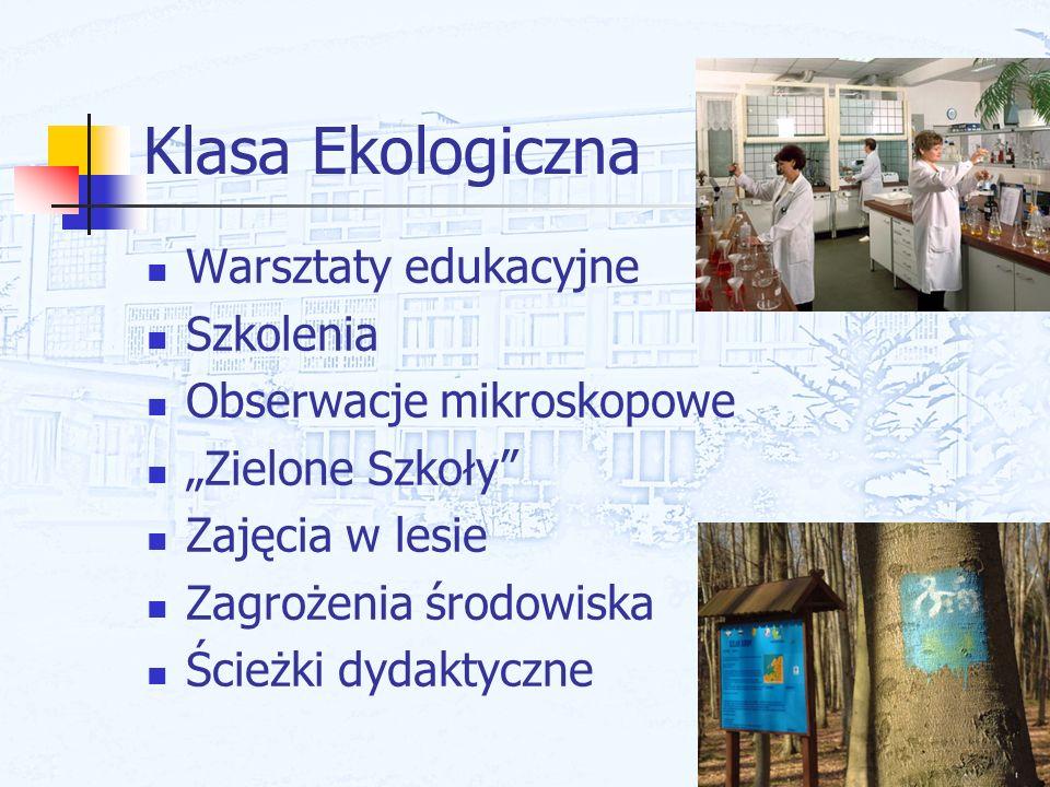 Klasa Ekologiczna Warsztaty edukacyjne Szkolenia