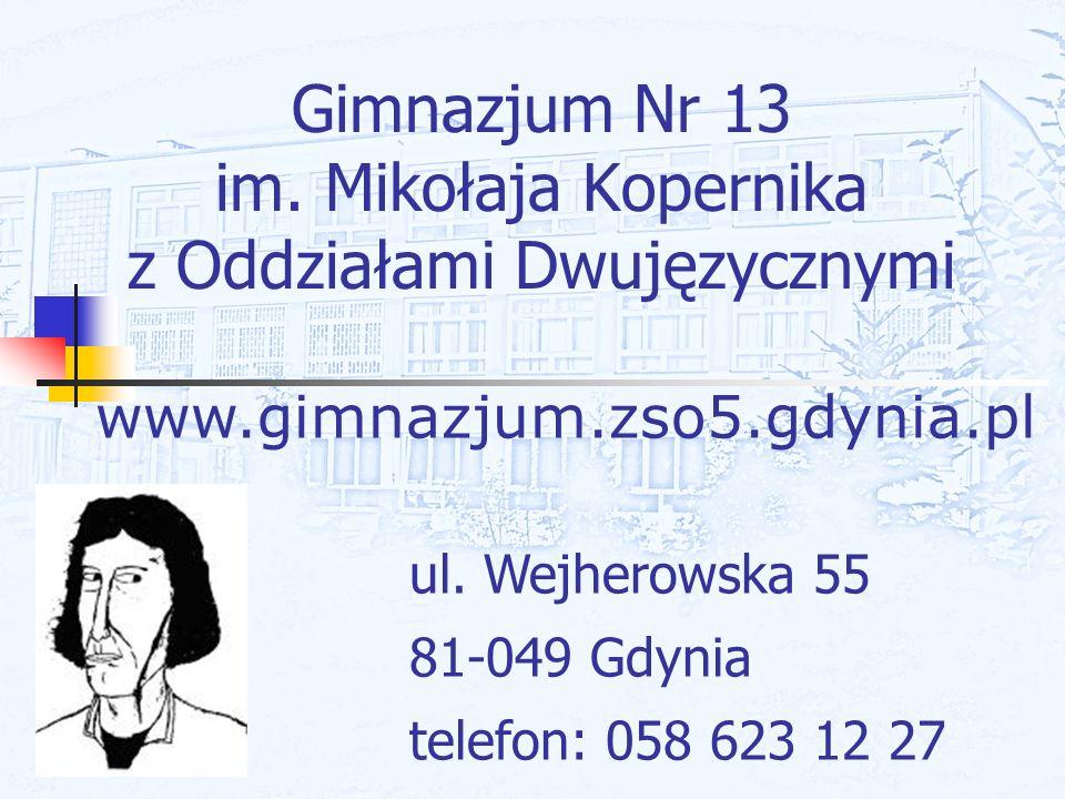 Gimnazjum Nr 13 im. Mikołaja Kopernika z Oddziałami Dwujęzycznymi