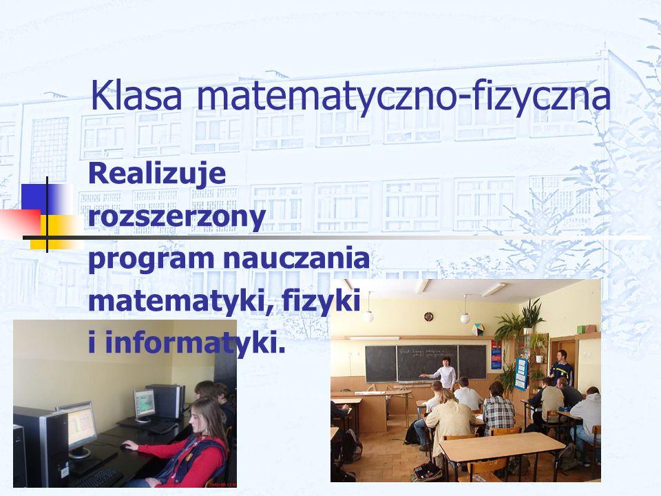 Klasa matematyczno-fizyczna