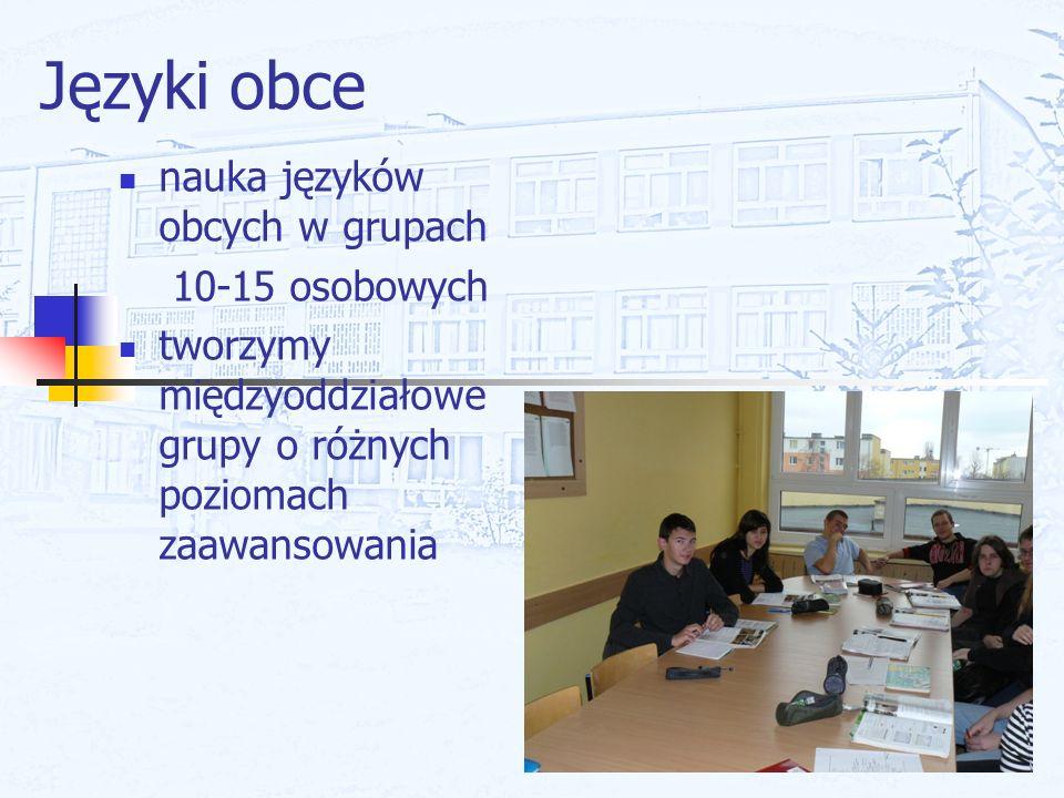 Języki obce nauka języków obcych w grupach 10-15 osobowych