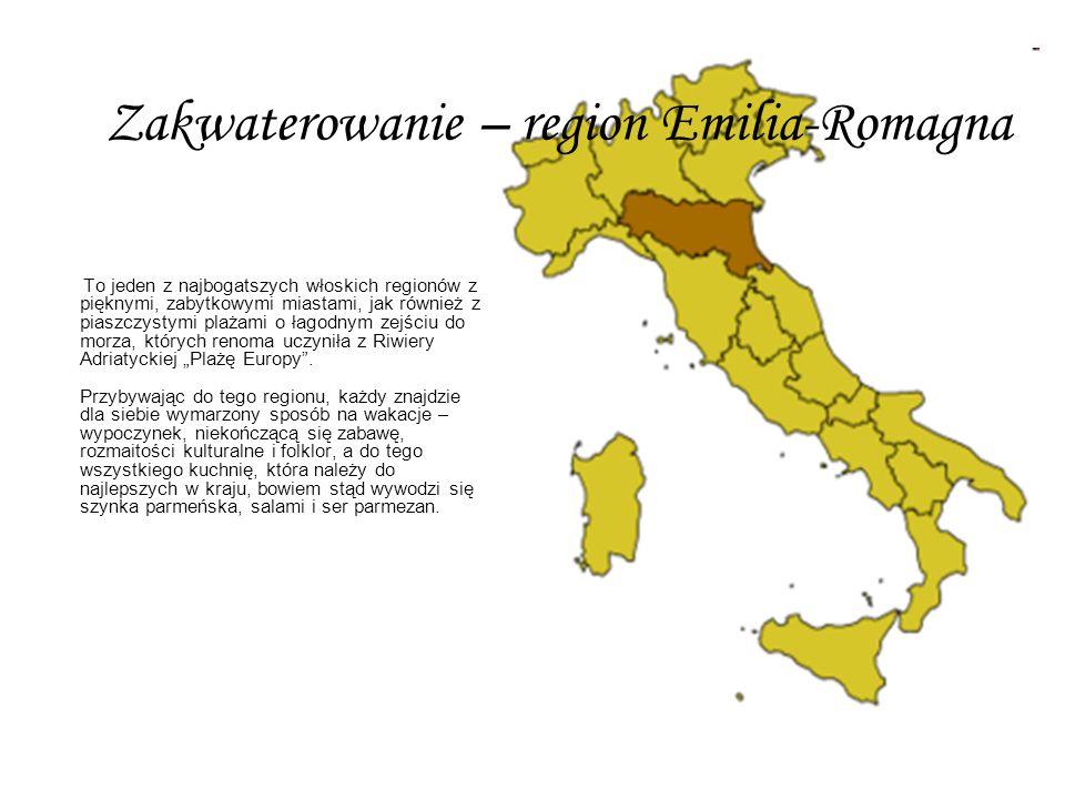 Zakwaterowanie – region Emilia-Romagna
