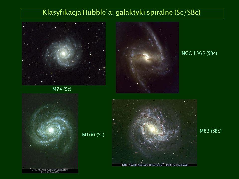 Klasyfikacja Hubble'a: galaktyki spiralne (Sc/SBc)