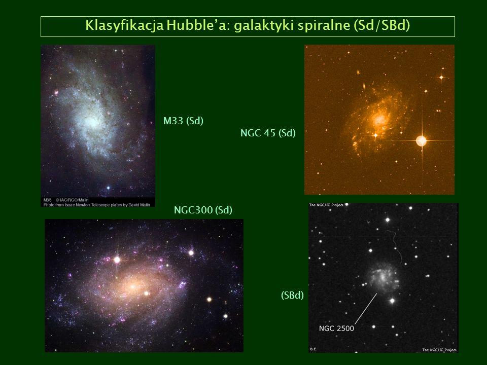 Klasyfikacja Hubble'a: galaktyki spiralne (Sd/SBd)