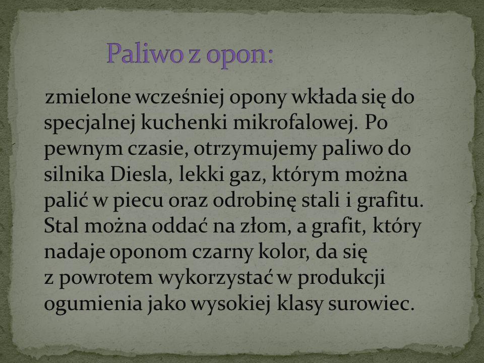 Paliwo z opon:
