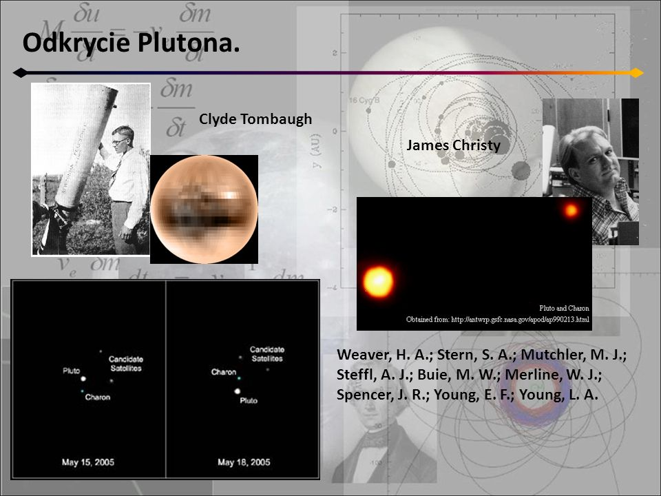 Odkrycie Plutona. Clyde Tombaugh James Christy