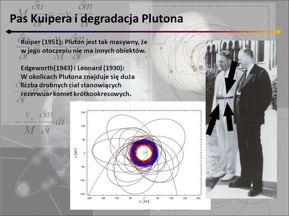 Pas Kuipera i degradacja Plutona